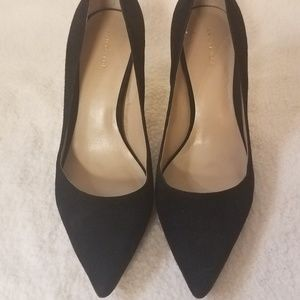 ANN TAYLOR Classic Leather Suede Heel Pumps 7.5M
